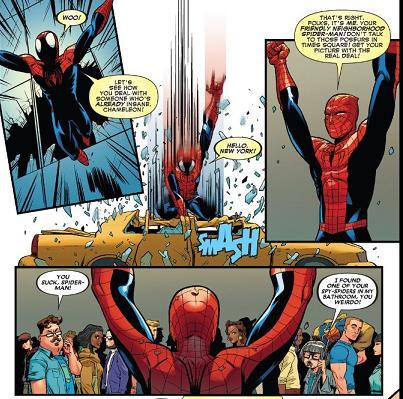 スパイダーマン(偽「スパイディ、意外と人気ないな」